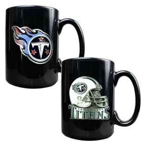 Tennessee Titans 2PC COFFEE MUG SET-HELMET/PRIMARY LOGO