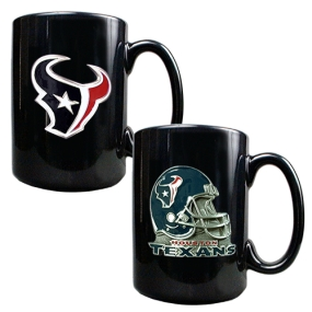 Houston Texans 2PC COFFEE MUG SET-HELMET/PRIMARY LOGO