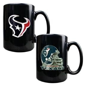 Houston Texans 2PC COFFEE MUG SET-HELMET/PRIMARY LOGO