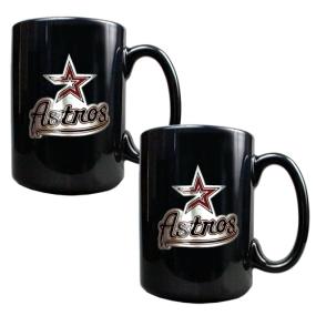 Houston Astros 2pc Black Ceramic Mug Set