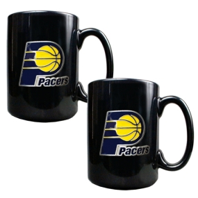 Indiana Pacers 2pc Black Ceramic Mug Set