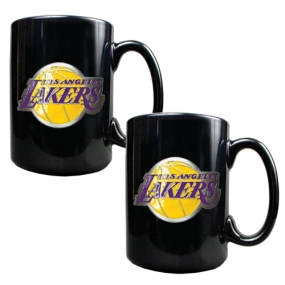 Los Angeles Lakers 2pc Black Ceramic Mug Set