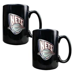 New Orleans Hornets 2pc Black Ceramic Mug Set