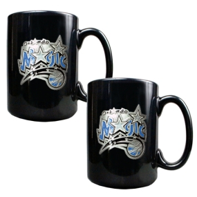 Orlando Magic 2pc Black Ceramic Mug Set