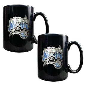Orlando Magic 2pc Black Ceramic Mug Set