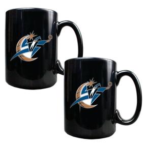 Washington Wizards 2pc Black Ceramic Mug Set