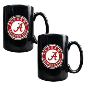 Alabama Crimson Tide 2pc Black Ceramic Mug Set