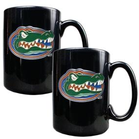 Florida Gators 2pc Black Ceramic Mug Set