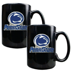 Penn State Nittany Lions 2pc Black Ceramic Mug Set