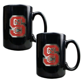 N.C. State Wolfpack 2pc Black Ceramic Mug Set