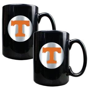 Tennessee Volunteers 2pc Black Ceramic Mug Set