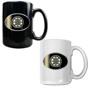 Boston Bruins 2pc 15oz Ceramic Mug Set