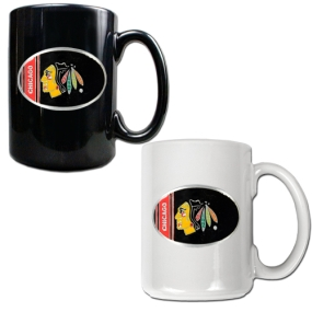 Chicago Blackhawks 2pc 15oz Ceramic Mug Set