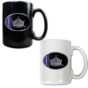 Los Angeles Kings 2pc 15oz Ceramic Mug Set