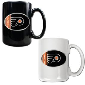 Philadelphia Flyers 2pc 15oz Ceramic Mug Set