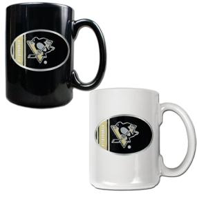 Pittsburgh Penguins 2pc 15oz Ceramic Mug Set