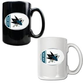 San Jose Sharks 2pc 15oz Ceramic Mug Set