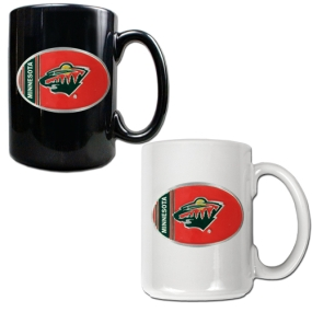 Minnesota Wild 2pc 15oz Ceramic Mug Set