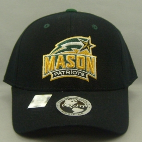 George Mason Patriots Black One Fit Hat