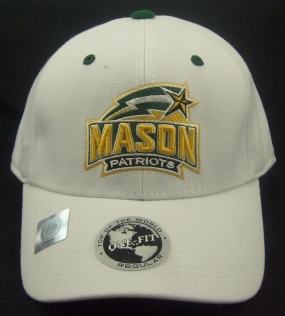 George Mason Patriots White One Fit Hat