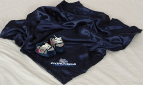 Gonzaga Bulldogs Baby Blanket and Slippers
