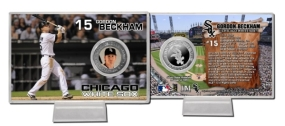 Gordon Beckham Silver Plate Coin Card