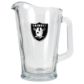 Oakland Raiders 60oz Glass Pitcher