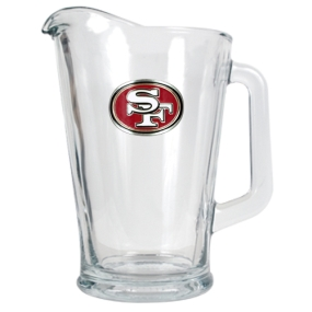 San Francisco 49ers 60oz Glass Pitcher