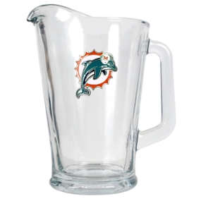 Miami Dolphins 60oz Glass Pitcher