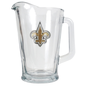New Orleans Saints 60oz Glass Pitcher