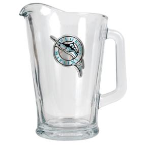 Florida Marlins 60oz Glass Pitcher