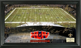 New Orleans Saints Super Bowl 44 Champs Signature Gridiron