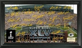 Super Bowl XLV Champions Signature Gridiron