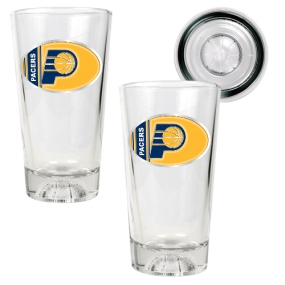 Indiana Pacers 2pc Pint Ale Glass Set with Basketball Bottom