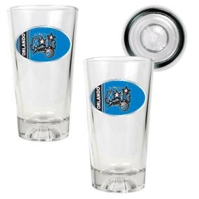 Orlando Magic 2pc Pint Ale Glass Set with Basketball Bottom