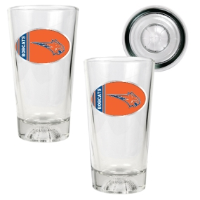 Charlotte Bobcats 2pc Pint Ale Glass Set with Basketball Bottom
