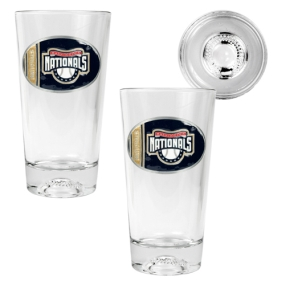 Washington Nationals 2pc Pint Ale Glass Set with Baseball Bottom
