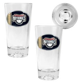 Washington Nationals 2pc Pint Ale Glass Set with Baseball Bottom