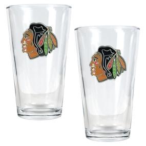 Chicago Blackhawks 2pc Pint Ale Glass Set