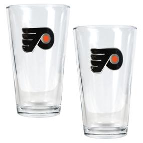 Philadelphia Flyers 2pc Pint Ale Glass Set