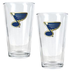St. Louis Blues 2pc Pint Ale Glass Set