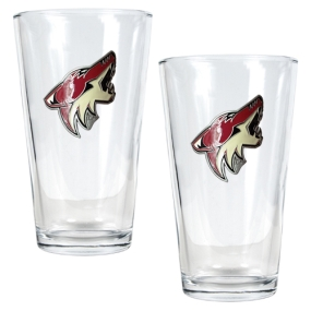 Phoenix Coyotes 2pc Pint Ale Glass Set