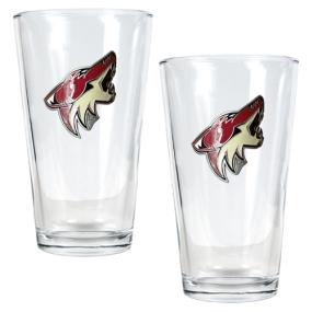 Phoenix Coyotes 2pc Pint Ale Glass Set