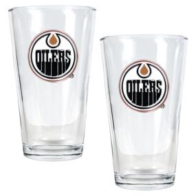 Edmonton Oilers 2pc Pint Ale Glass Set
