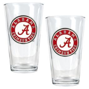 Alabama Crimson Tide 2pc Pint Ale Glass Set