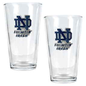 Notre Dame Fighting Irish 2pc Pint Ale Glass Set