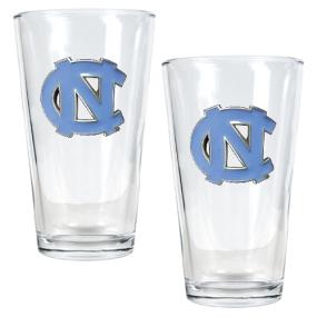 UNC Tar Heels 2pc Pint Ale Glass Set