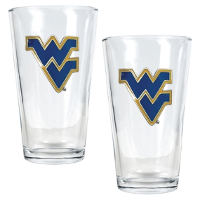 West Virginia Mountaineers 2pc Pint Ale Glass Set