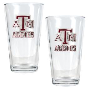 Texas A&M Aggies 2pc Pint Ale Glass Set