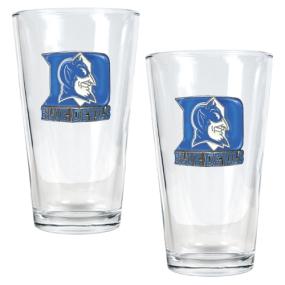 Duke Blue Devils 2pc Pint Ale Glass Set